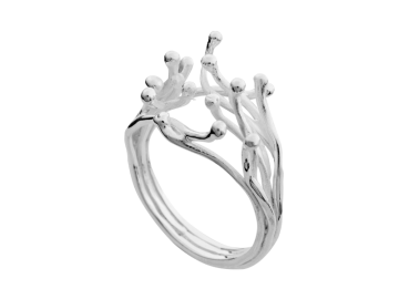 Modell Wellenspiel - 1 Ring aus 925er Silber