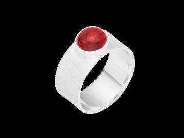 Modell Betty - 1 Ring aus Koralle & 925er Silber
