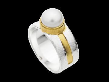 Modell Perle - 1 Bandring aus 925er Silber