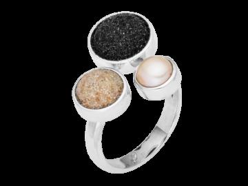Modell Treibsand - 1 Ring aus 925er Silber
