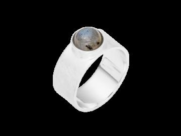 Modell Betty - 1 Ring aus Labradorit & 925er Silber