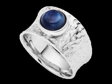 Modell Wasserblau - 1 Ring 925er Silber mit Kyanit
