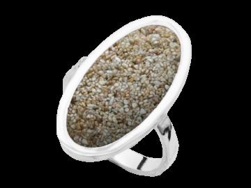 Modell Sandbank oval - 1 Ring aus 925er Silber