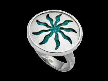 Modell Patina & Sonne - 1 Ring aus 925er Silber