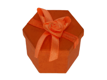 Ringbox Schmuckbox orange