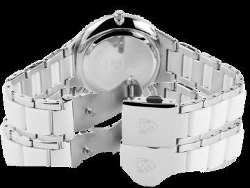 Pierrini Damenuhr mit Edelstahlarmband weiß&silber