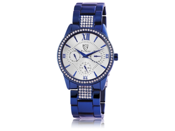 Pierrini ladies watch with stainless steel strap blue