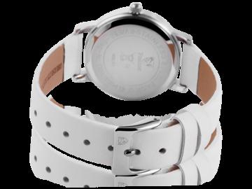 Pierrini Damenuhr mit Echtlederarmband Rose weiß