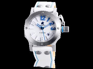 Carucci CA2210 white & blue ladies watch