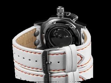 Carucci CA2210 Automatik Damenuhr mit Echtlederband