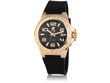 Carucci CA2230 automatic ladies watch black&rosegold