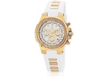 Carucci CA2215 Chronograph Damenuhr mit Kautschukband